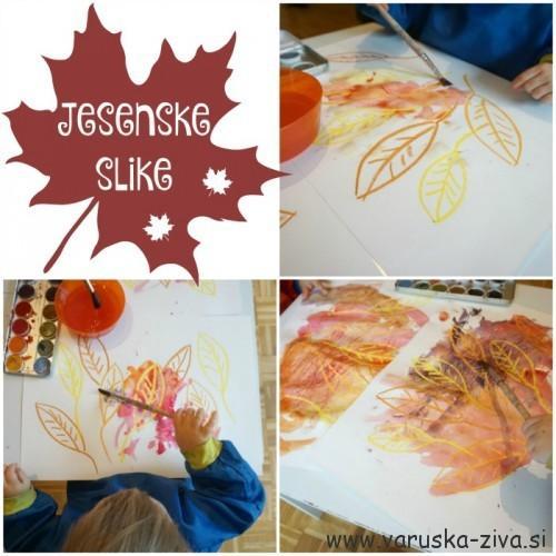 Jesenske slike - jesenske aktivnosti za otroke