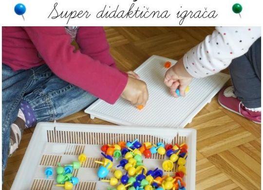 Otroški žebljički - super didaktična igrača za malčke