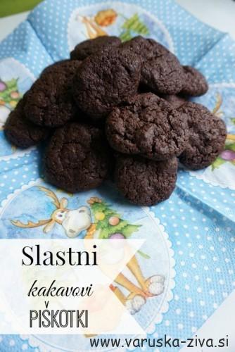 Slastni kakavovi piškoti - peka z otroki
