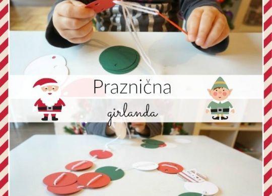 Praznična girlanda - decemberske aktivnosti za otroke