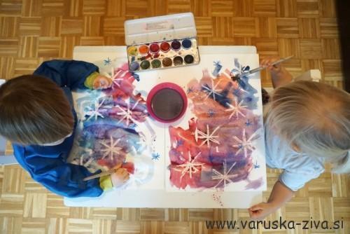 Zimska slika - zimske aktivnosti za otroke