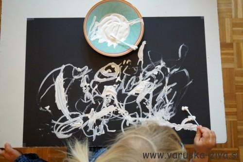 Slikanje z belo tempero
