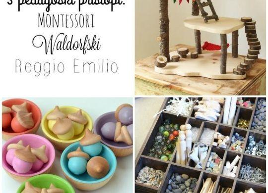 Kratka predstavitev treh pedagoških pristopov Montessori, Waldorfski in Reggio Emilia