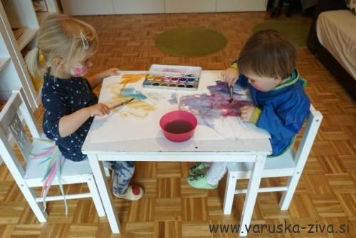Slikanje z vodenimi barvami