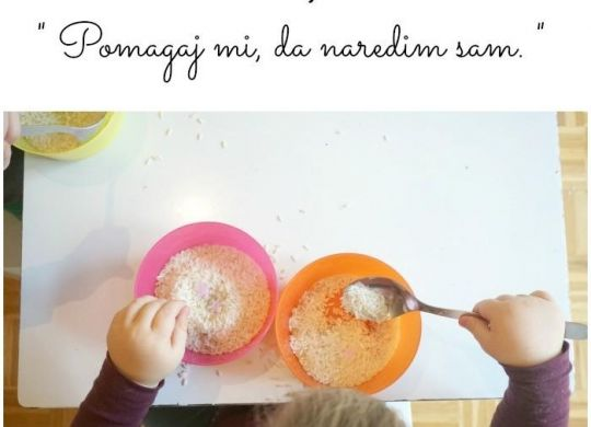 Prelaganje riža - Montessori aktivnosti