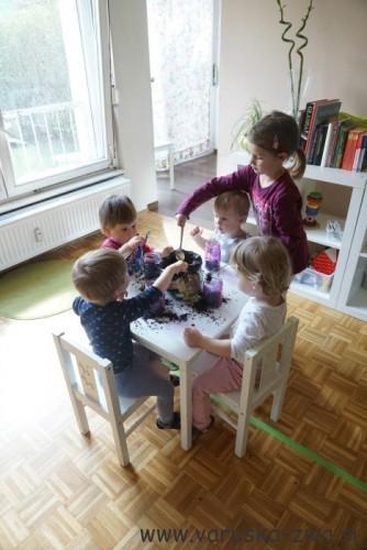 Sajenje rožic za mamice