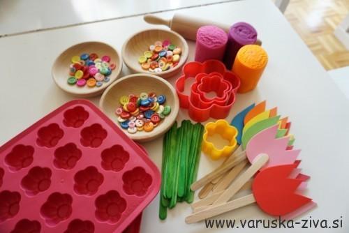Pomldani plastelin - pomladne aktivnosti za otroke