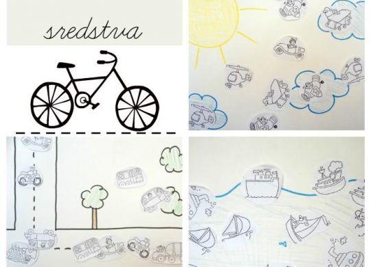 Razvrščanje prevoznih sredstev - prometne aktivnosti za otroke