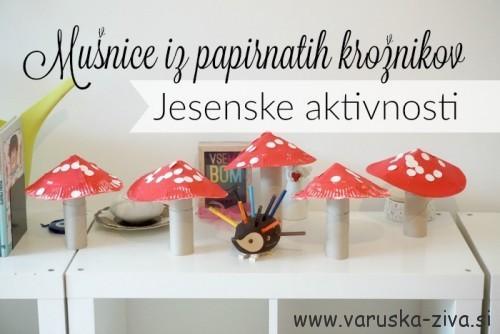 Mušnice iz papirnatih krožnikov - Jesenske aktivnosti za otroke