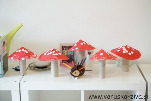 Gobice iz papirnatih krožnikov - Jesenske aktivnosti za otroke