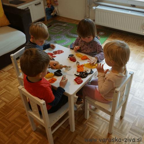 Jesenski plastelin - jesenske aktivnosti za otroke