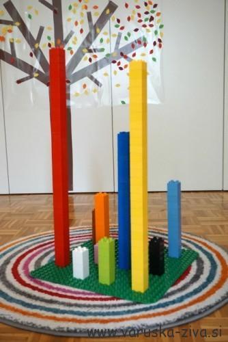 Razvrščanje Lego kock po barvah - Lego aktivnosti