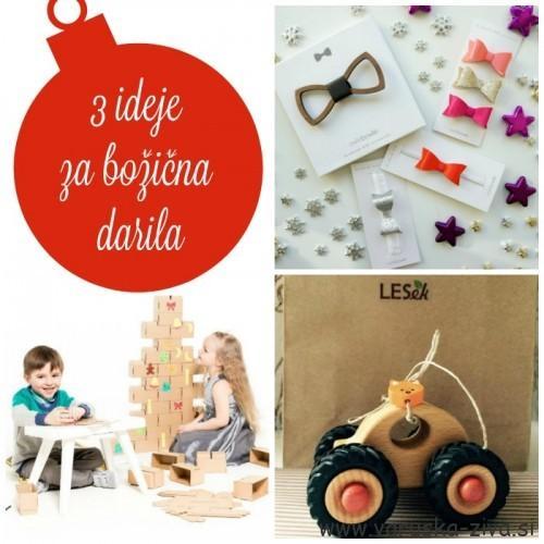 3 ideje za božična darila - Owlie bowlie, LESek, GIGI bloks