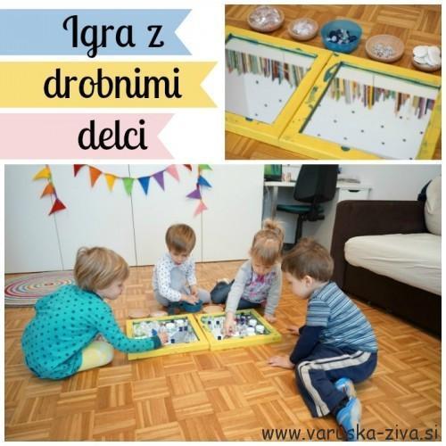 Igra z drobnimi delci in ogledalom - zimske aktivnosti za otroke