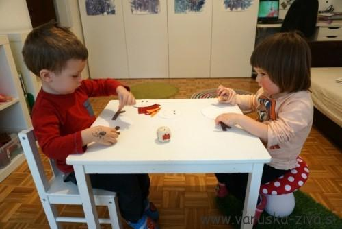 Družabna igrica Sestavi snežaka