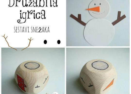 Sestavi snežaka - enostavna doma narejena družabna igrica