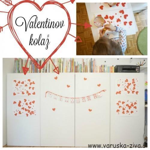 Valentinov kolaž - valentinove aktivnosti za otroke