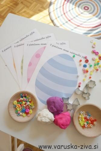 Velikonočni plastelin in predloge