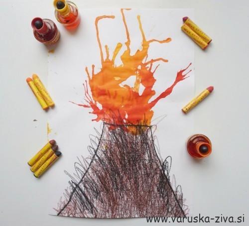 Vulkan - likovna aktivnost za otroke