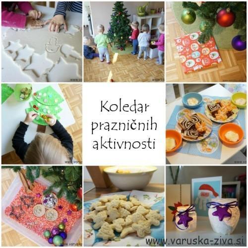 Praznične aktivnosti - adventni koledar aktivnosti za otroke