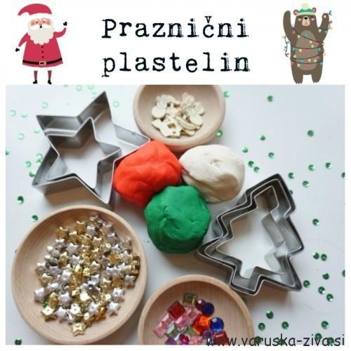Praznični plastelin - decembrske aktivnosti za otroke