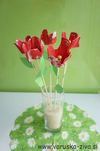 Rožice za materinski dan - ustvarjanje za materinski dan