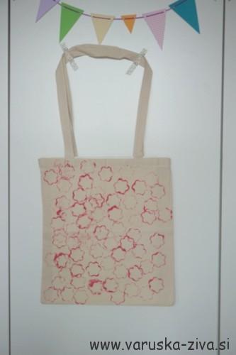 Tiskanje na platneno vrečko - darila za materinski dan