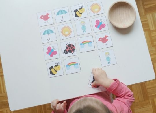 Pomladne aktivnosti za otroke - pomladni spomin - prirejanje