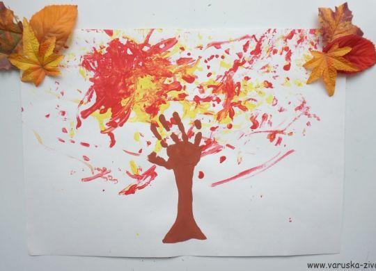 Jesenska drevesa - jesenska likovna aktivnost za otroke