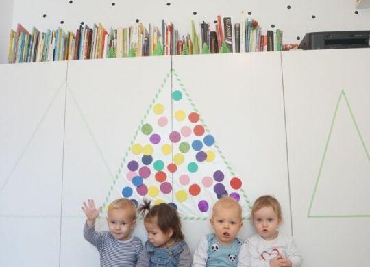 Lepljiva smrekica - praznične decembrske aktivnosti za otroke