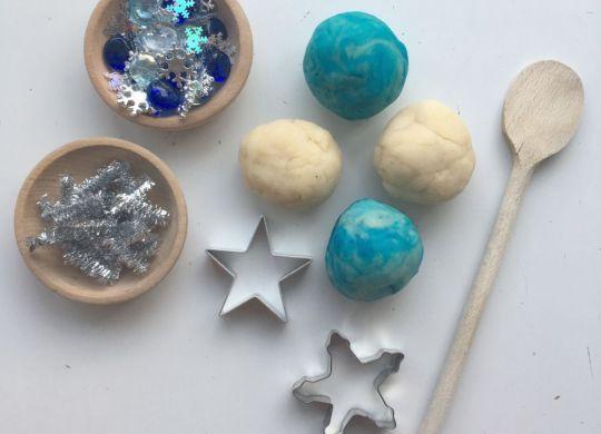 Zimski plastelin - Zimske aktivnosti za otroke - Domači plastelin