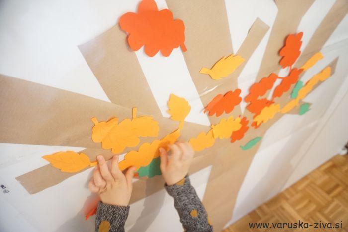 Jesensko drevo - jesenske aktivnosti za otroke