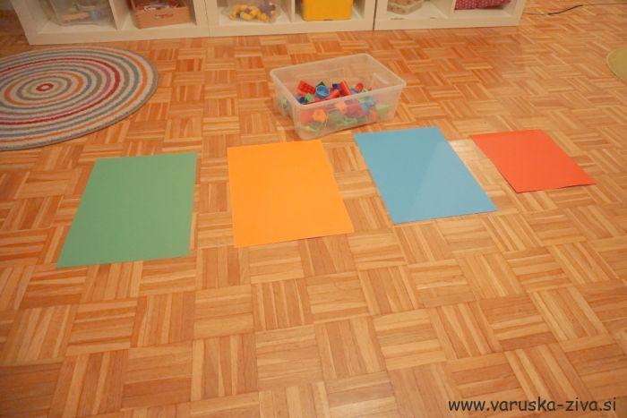 Razvrščanje predmetov po barvah