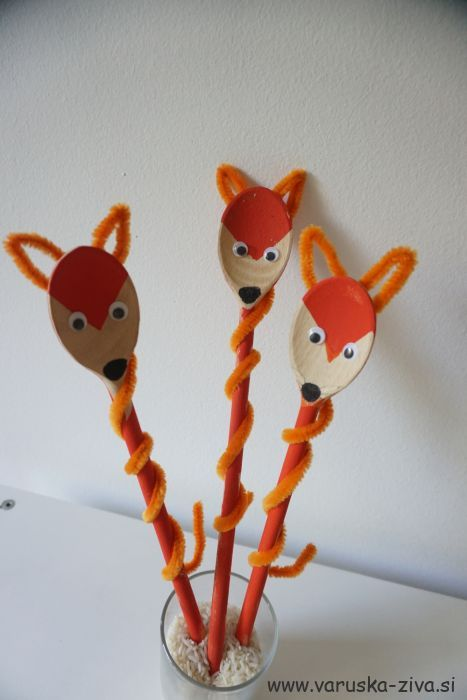 Lisičke iz kuhalnice - enostavne lutke