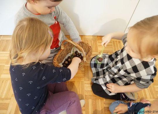 Gibalna igra s kostanjem - Zabavne jesenske aktivnosti