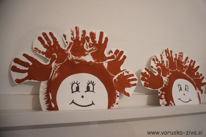Ježki iz papirnatega krožnika