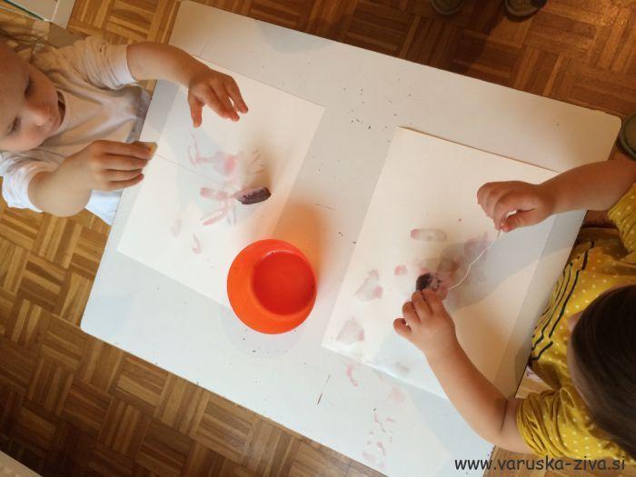 Slikanje s čajnimi vrečkami