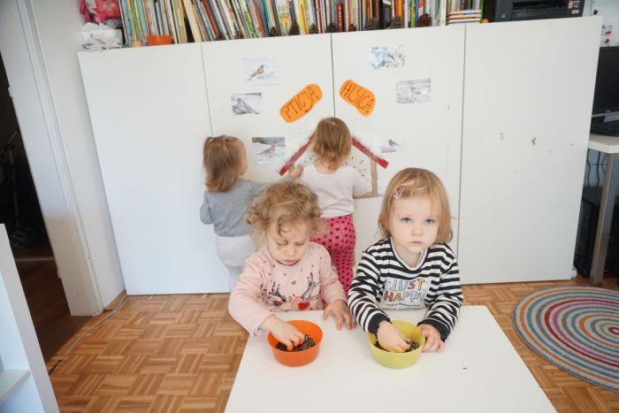 Ptičja hišica - zimske aktivnosti za otroke