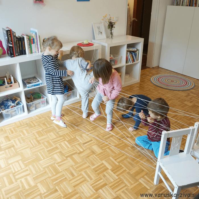 Pajkova mreža – gibalna aktivnost
