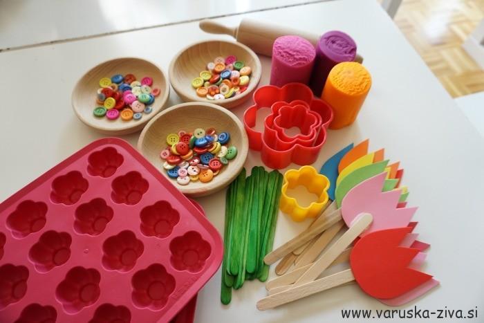 Pomladni plastelin - enostavne pomladne aktivnosti za otroke
