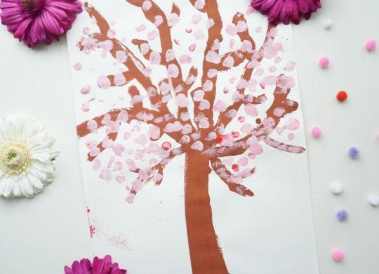 Pomladno drevo - enostavne pomladne aktivnosti za otroke