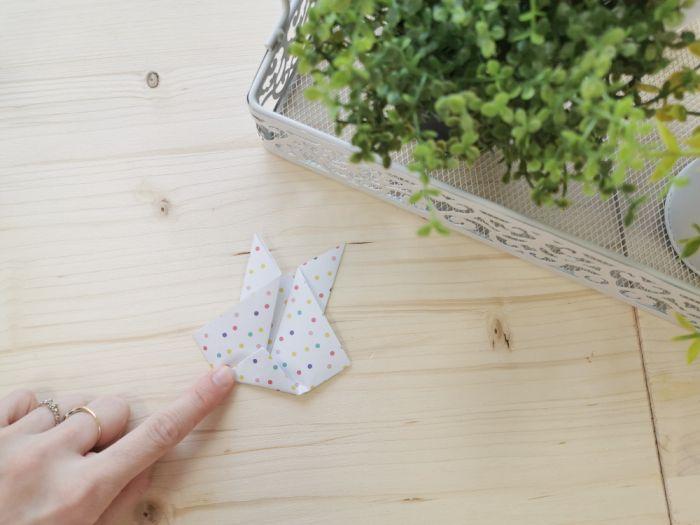 Origami - velikonočni zajček