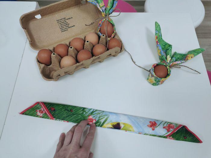 Zajčki iz prtičkov - velikonočne aktivnosti