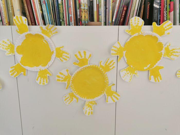 Sončki iz papirnatih krožnikov