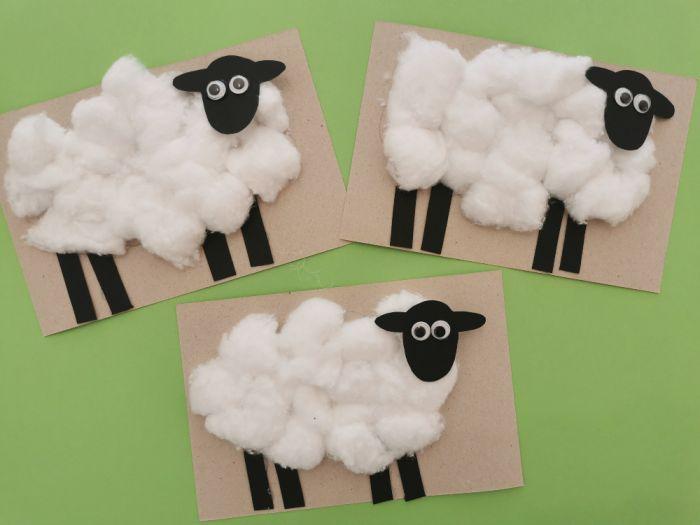 Izdelali smo mehke ovčke iz vate