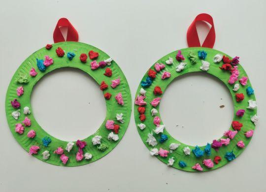 Božični venčki - praznične aktivnosti za otroke