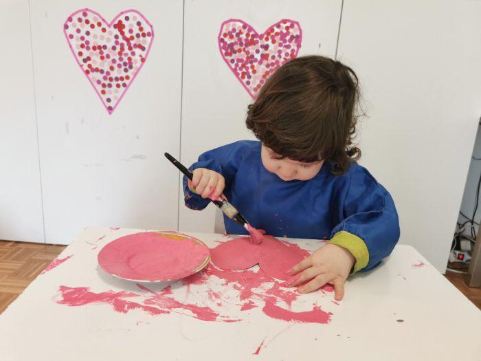 Valentinovi srčki iz kartona