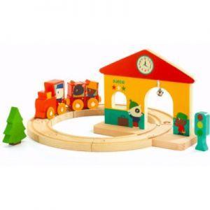Djeco - Mali leseni vlak z železnico
